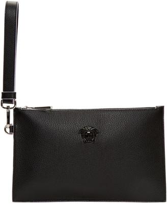 Versace Black Small Medusa Zip Pouch $575 thestylecure.com