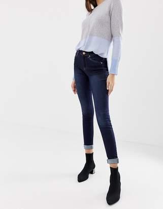 Oasis mid-rise skinny jeans in dark wash