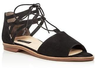 Paul Green Women's Morea Nubuck Leather Lace Up Sandals