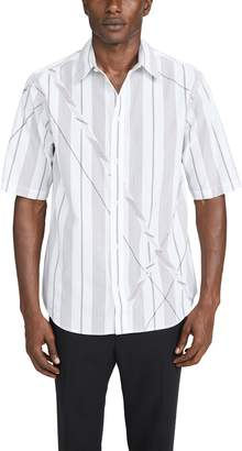3.1 Phillip Lim Argyle Patchwork Short Sleeve Shirt