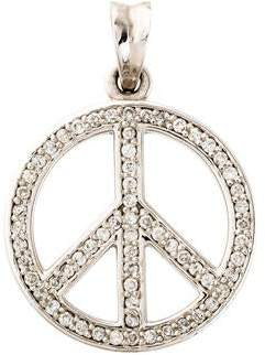 7641057333ea Diamond Peace Sign Pendant - ShopStyle