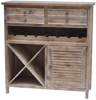 Crestview Burks 7 Bottle Floor Wine Cabinet