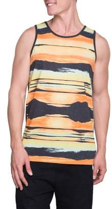 George Sunset Stripe Men's Graphic Tank, up to Size 3XL