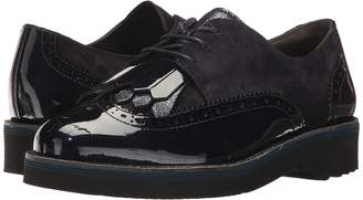 Paul Green Newport Oxford Women's Lace Up Wing Tip Shoes