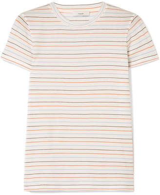 Vince Striped Cotton-jersey T-shirt - Off-white