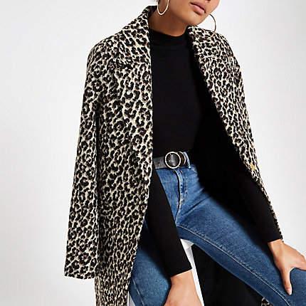 Womens Leopard print jacquard jacket