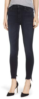 Mother The Stunner High Waist Fray Ankle Skinny Jeans