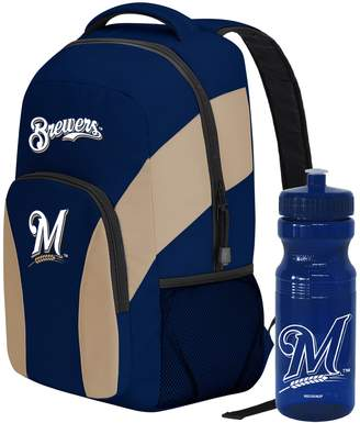 DAY Birger et Mikkelsen Milwaukee Brewers Draft Backpack with 24-Ounce Pull-Cap Water Bottle by Northwest
