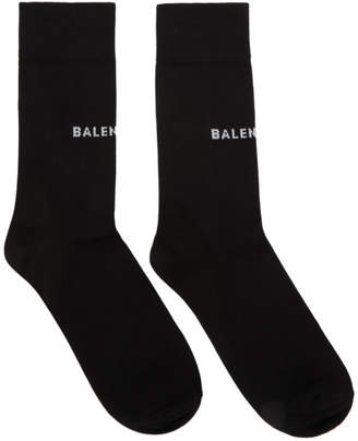 Balenciaga Black Tight Logo Socks