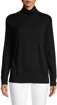 Lafayette 148 New York Modern Turtleneck Wool Sweater