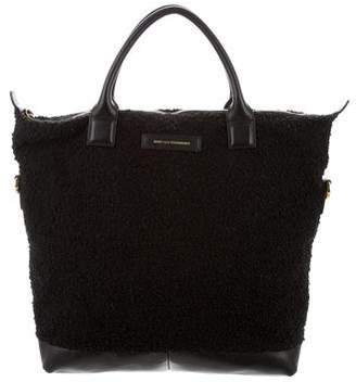 WANT Les Essentiels Leather Trimmed Bouclé Tote