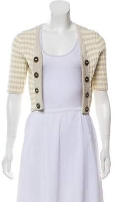 Marc by Marc Jacobs Striped Cropped Cardigan