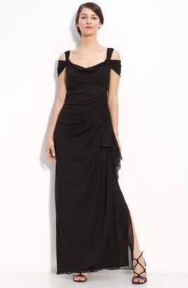 Alex Evenings Double Strap Mesh Gown