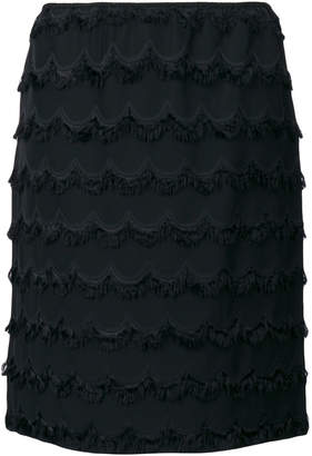 Marc Jacobs knee length fringed skirt