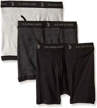 U.S. Polo Assn. Men's 3-Pack Cotton Boxer Briefs