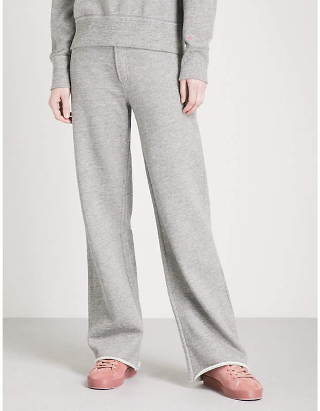 Justine wide-leg cotton-jersey jogging bottoms