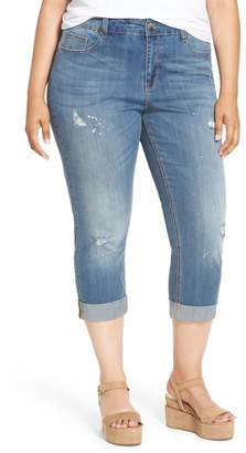 Melissa McCarthy Stretch Crop Girlfriend Jeans (Plus Size)