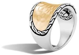 John Hardy Classic Chain Hammered Saddle Ring