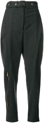 Proenza Schouler Lightweight Wool Belted Straight Pant