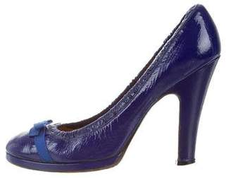 Marc Jacobs Patent Leather Round-Toe Pumps