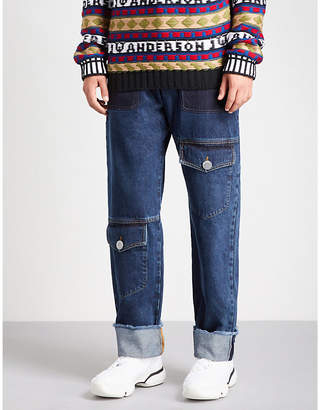 J.W.Anderson Multi-pocket wide-fit straight jeans