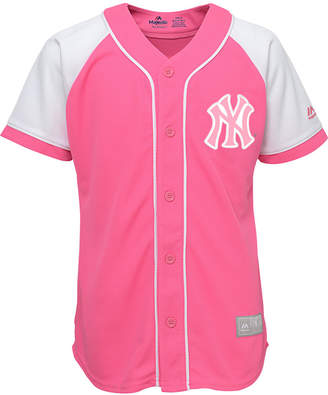 Majestic Girls' New York Yankees Pink Fashion Jersey