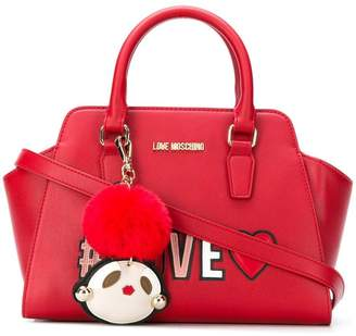 Love Moschino love patch tote