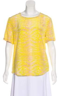 Equipment Silk Printed Short Sleeve Top