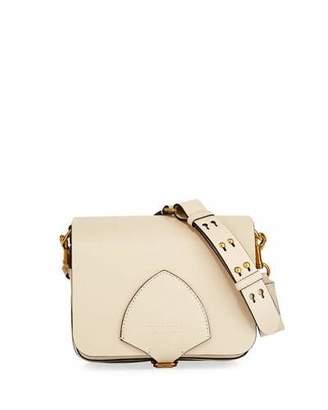 Burberry Square Calf Leather Satchel Bag