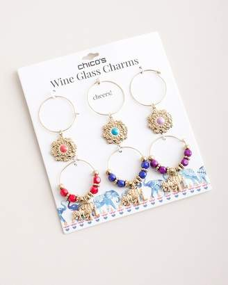 Chico's Chicos Elephant Wine Glass Charms