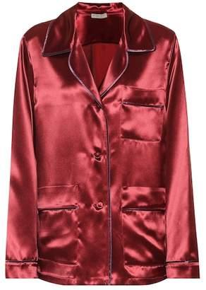 Bottega Veneta Satin pajama shirt