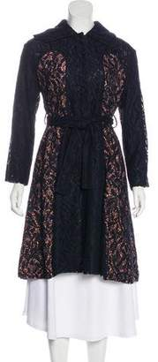 Christian Dior Silk-Trimmed Lace Coat