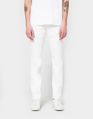 Weird Guy White Stretch Selvedge $145 thestylecure.com