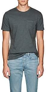 Barneys New York Men's Brushed Cotton Jersey T-Shirt - Olive