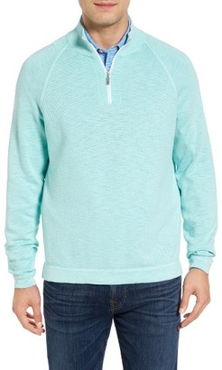 Men's Big & Tall Tommy Bahama Saltwater Tide Half Zip Pullover $188 thestylecure.com