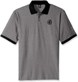 Rocawear Men's Big and Tall Shadow Twill Short Sleeve Polo