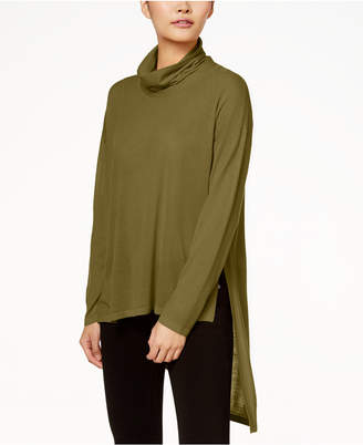 Eileen Fisher Wool Cowl-Neck Sweater