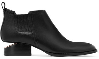 Alexander Wang - Kori Cutout Leather Ankle Boots - Black $520 thestylecure.com
