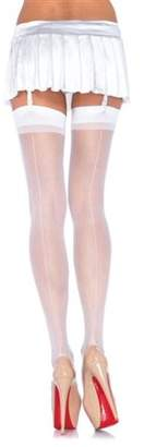Leg Avenue Women's Sheer Back Seam Stockings Adult Hosiery Red - One Size