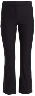 Derek Lam 10 Crosby Eyelet Embroidered Cropped Flare Trousers