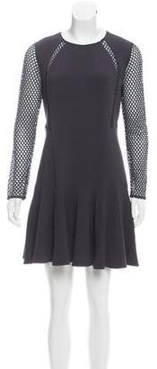 Rebecca Taylor Mesh-Accented Flounce Dress w/ Tags