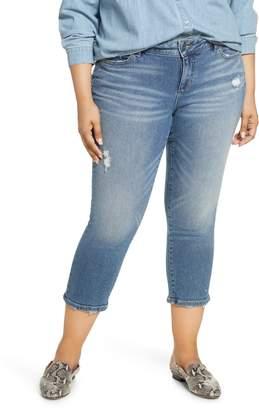 SLINK Jeans New School Ripped Crop Jeans