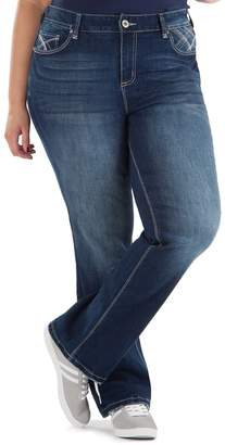 Juniors' Plus Size Amethyst Curvy Baby Bootcut Jeans