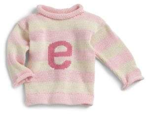 MJK Knits Baby's& Toddler's Personalized Letter Sweater