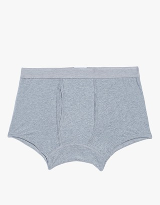 Supersoft Cotton Low Waist Trunk in Grey $45 thestylecure.com