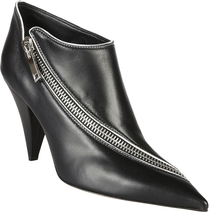 Celine Zipped Ankle Boots