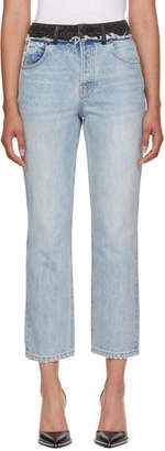 Alexander Wang Blue and Grey Cult Duo Jeans