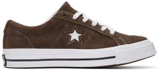 Converse Brown Suede One Star Sneakers