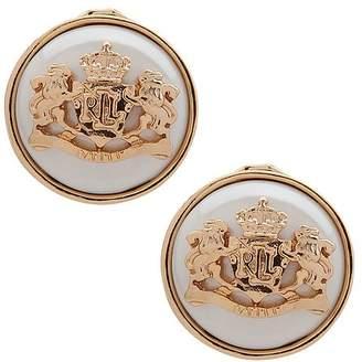 Ralph Lauren Crest Button Clip-On Earrings