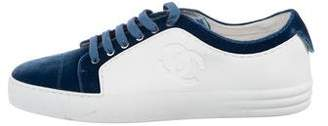 Chanel Velvet CC Low-Top Sneakers